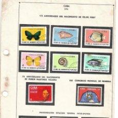 Francobolli: SELLOS COLECCIÓN 1969-1975 CORRESPONDIENTES A CUBA 1974 ORIGINALES (VER FOTO ESCÁNER). Lote 134314810