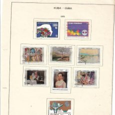 Sellos: SELLOS COLECCIÓN 1969-1975 CORRESPONDIENTES A CUBA 1975 ORIGINALES (VER FOTO ESCÁNER) . Lote 134315298