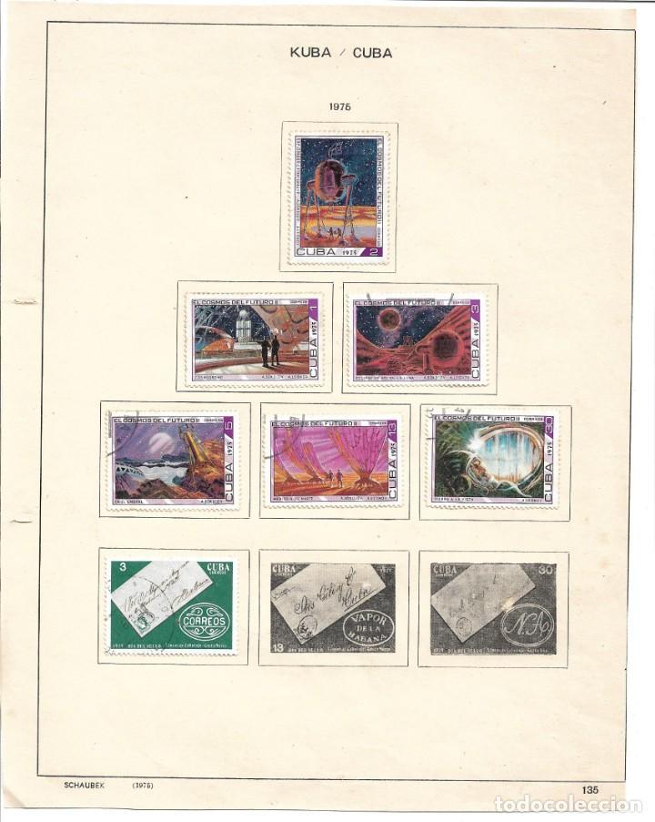 SELLOS COLECCIÓN 1969-1975 CORRESPONDIENTES A CUBA 1975 ORIGINALES (VER FOTO ESCÁNER) INCOMPLETO (Sellos - Extranjero - América - Cuba)