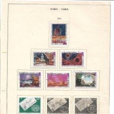 Selos: SELLOS COLECCIÓN 1969-1975 CORRESPONDIENTES A CUBA 1975 ORIGINALES (VER FOTO ESCÁNER) INCOMPLETO. Lote 134315582