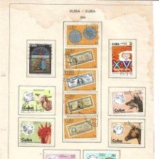 Sellos: SELLOS COLECCIÓN 1969-1975 CORRESPONDIENTES A CUBA 1975 ORIGINALES (VER FOTO ESCÁNER) . Lote 134315942