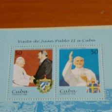Sellos: SELLOS NUEVOS EN SU PLIEGO, VISITA JUAN PABLO II A CUBA 1998. Lote 136262148