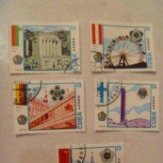 Sellos: LOTE DE 5 SELLOS DE CUBA : CAPITALES DE EUROPA COMUNISTA.. Lote 140631798
