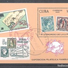 Sellos: CUBA H.B. Nº 82º CONGRESO DE LA UPU. SELLO SOBRE SELLO. Lote 140767798