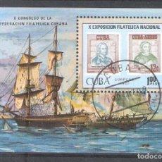 Sellos: CUBA H.B. Nº 96. EXPOSICIÓN FILATÉLICA. SELLO SOBRE SELLO. Lote 140770734