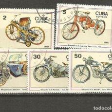 Sellos: CUBA YVERT NUM. 2635/2639 SERIE COMPLETA MATASELLADA. Lote 140789266