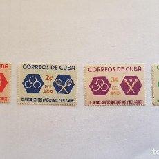 Sellos: 4 SELLOS CORREOS DE CUBA, JAMAICA, IX JUEGOS CENTRO AMERICANOS Y DEL CARIBE. . Lote 142311906