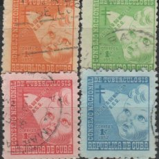 Selos: LOTE 2 SELLOS CUBA TUBERCULOSIS. Lote 142747806