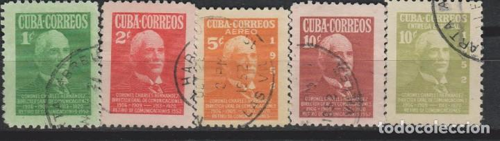 LOTE 2 SELLOS CUBA AÑO 1952 (Sellos - Extranjero - América - Cuba)