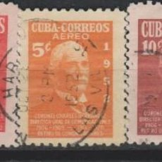 Sellos: LOTE 2 SELLOS CUBA AÑO 1952. Lote 142747954