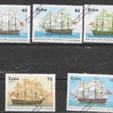 Sellos: CUBA Nº 3534 AL 3538 (**). Lote 143022754