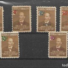 Sellos: CUBA SELLOS DE LA SERIE DE 1952 NUEVA. Lote 143655145