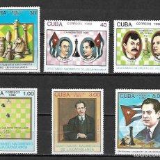Sellos: CUBA SERIE COMPLETA NUEVA PERFECTA 1988. Lote 144996346