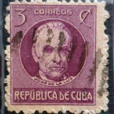 Sellos: CUBA - POLITICIANS - JOSE DE LA LUZ - 1917 - 3 C. Lote 146326590