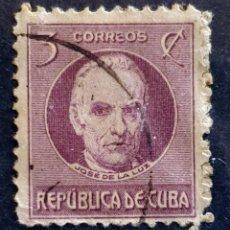 Sellos: CUBA - JOSE DE LA LUZ - 3 C - 1917. Lote 146639342