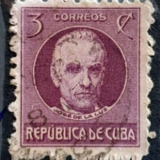 Sellos: CUBA - JOSE DE LA LUZ - 3 C - 1917. Lote 146639366