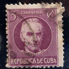 Sellos: CUBA - JOSE DE LA LUZ - 3 C - 1917. Lote 146639406