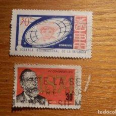 Sellos: LOTE 2 SELLOS USADOS EXTRANJERO - CUBA. Lote 147419850