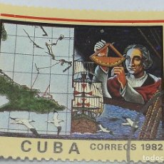 Sellos: SELLO 490 ANIVERSARIO DESCUBRIMIENTO DE AMÉRICA. CRISTÓBAL COLÓN. REPÚBLICA DE CUBA. 5 CT. 1982. Lote 147918802