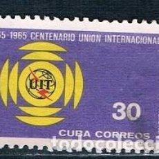 Sellos: SELLO USADO CUBA 1965 YVES 853 MI 1030 VALOR CLAVE. Lote 147949358