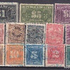 Sellos: 13 SELLOS REPUBLICA DE CUBA ANTIGUOS - OFERTA POR LIQUIDACIÓN - LOS DE LA FOTO. Lote 152443598
