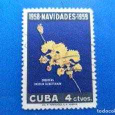 Sellos: SELLO DE CUBA 497. AÑO 1958. NAVIDAD - FLORA - FLORES - ORQUIDEAS.. Lote 156449982