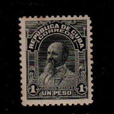 Sellos: CL2-478 ANTIGUO SELLO DE LA REPUBLICA DE CUBA VALOR 1 PESO COLOR NEGRO. Lote 156671246