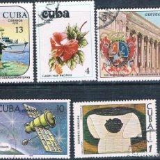 Sellos: CUBA 1978 - YVERT 2040 + 2045 + 2052 + 2077 + 2087 ( USADOS ). Lote 158720162