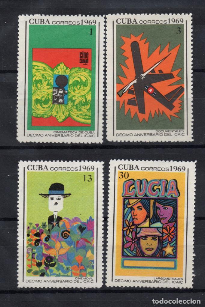 CUBA 1301/04** - AÑO 1969 - 10º ANIVERSARIO DE LA INDUSTRIA CUBANA DEL CINE (Sellos - Extranjero - América - Cuba)