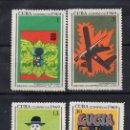 Sellos: CUBA 1301/04** - AÑO 1969 - 10º ANIVERSARIO DE LA INDUSTRIA CUBANA DEL CINE. Lote 165267346