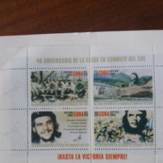 Sellos: HOJA-BLOQUE 40 ANIVERSARIO DEL CHE CUBA 2007. Lote 159654420