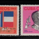 Sellos: CUBA 932/33** - AÑO 1965 - ANIVERSARIO DE LA MUERTE DEL PROFESOR ANDRE VOISIN. Lote 160828970