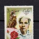Sellos: CUBA 1268** - AÑO 1969 - DIA DE LA MUJER CUBANA - MARIANA GRAJALES. Lote 160829098