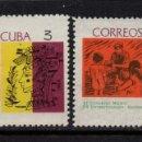 Sellos: CUBA 962/63** - AÑO 1966 - CONGRESO MEDICO Y CONGRESO DE ESTAMOTOLOGIA. Lote 160832130