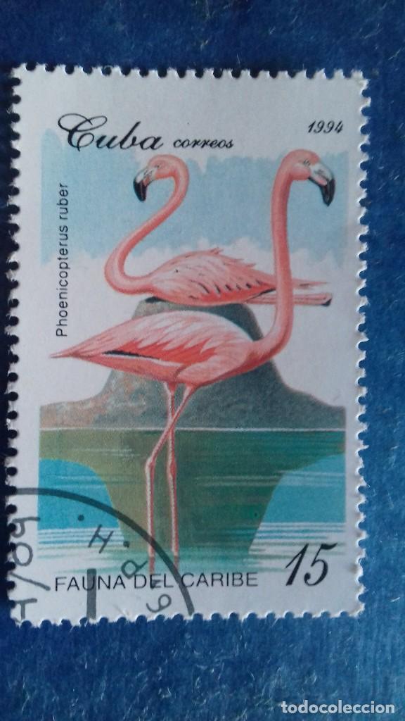 CUBA 1994. YVERT 3403. FAUNA DEL CARIBE. FLAMENCO DEL CARIBE. MATASELLADO. (Sellos - Extranjero - América - Cuba)