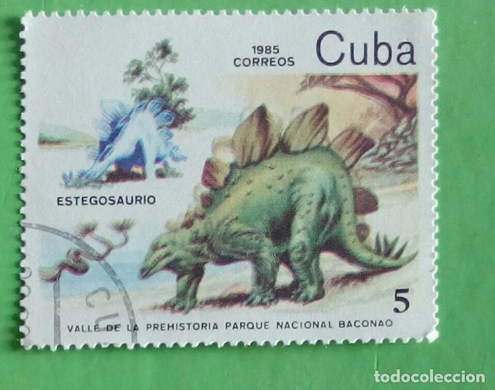CUBA 1985. DINOSSAUROS. NATIONAL PARK. USED (Sellos - Extranjero - América - Cuba)