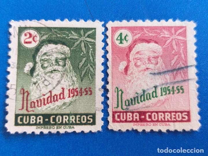 SELLO DE CUBA. AÑO 1954 - 55. YVERT 417 - 418. SERIE COMPLETA. NAVIDAD, PAPA NOEL. (Sellos - Extranjero - América - Cuba)