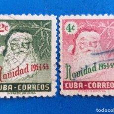 Sellos: SELLO DE CUBA. AÑO 1954 - 55. YVERT 417 - 418. SERIE COMPLETA. NAVIDAD, PAPA NOEL.. Lote 172841885