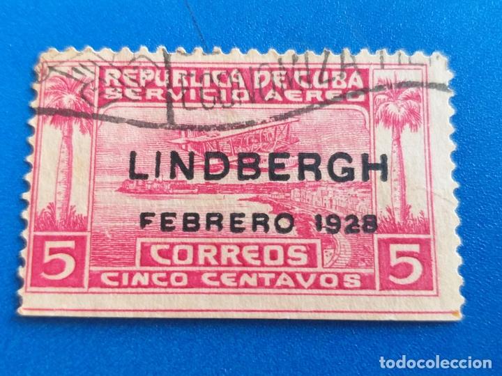 SELLO DE CUBA. YVERT A 2. VUELO DE LINDBERGH HACIA AMÉRICA DEL SUR. AÑO 1928. (Sellos - Extranjero - América - Cuba)