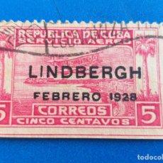 Sellos: SELLO DE CUBA. YVERT A 2. VUELO DE LINDBERGH HACIA AMÉRICA DEL SUR. AÑO 1928. . Lote 172851372