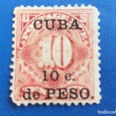 Sellos: SELLO DE CUBA. 10 CÉNTIMOS DE PESOS. TAZAS. Lote 173071688