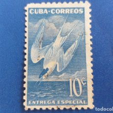 Sellos: SELLO DE CUBA. AÑO 1953. IVERT 17. ENTREGA ESPECIAL. GOLONDRINA DE MAR. . Lote 173072347