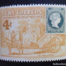 Sellos: CUBA - CENTENARIO DEL SELLO (1855-1955) - LA VOLANTA. Lote 173097374