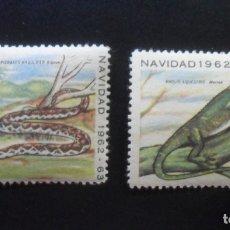 Sellos: 2 SELLOS CUBA - NAVIDAD 1962 - 63. Lote 173116977