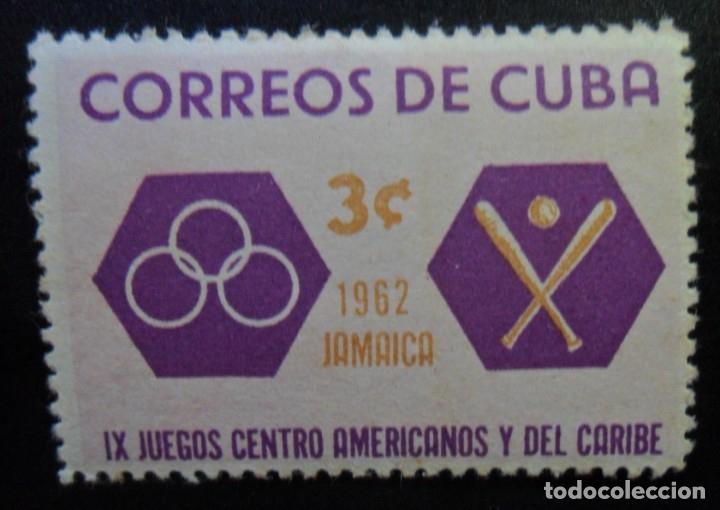 CUBA - IX JUEGOS CENTRO AMERICANOS Y DEL CARIBE - 1962 JAMAICA (Sellos - Extranjero - América - Cuba)