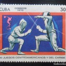 Sellos: CUBA 1970 - XI JUEGOS CENTROAMERICANOS Y DEL CARIBE. Lote 174373762