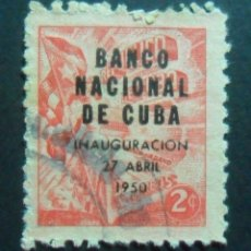 Sellos: CUBA 1950 - 27 ABR - SOBRECARGADO - INAUGURACION BANCO NACIONAL DE CUBA. Lote 175936942