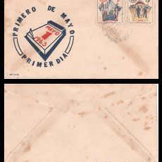 Sellos: CUBA, SOBRE PRIMER DIA 1963 PRIMERO DE MAYO.. Lote 178237977
