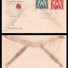 Sellos: CUBA, SOBRE PRIMER DIA 1963 IV JUEGOS PAN-AMERICANOS SAO PAULO 1963.. Lote 178238876