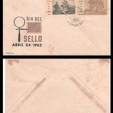 Francobolli: CUBA, SOBRE PRIMER DIA 1962 DIA DEL SELLO ABRIL 24/1962.. Lote 178241535